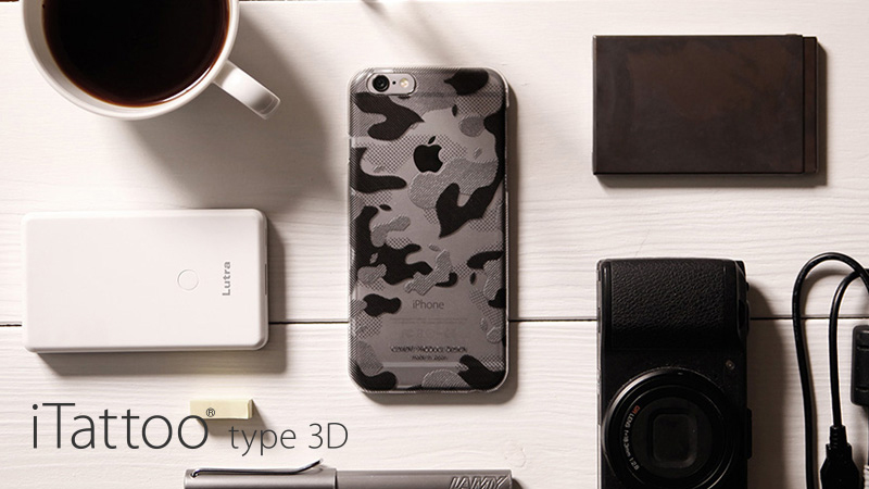 アップルのロゴを活かしたデザインのiPhoneのためのクリアケース